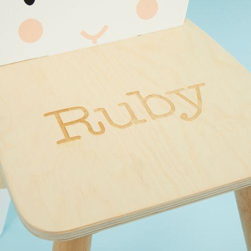 Personalised Tenderleaf Rabbit Design Children's Chair