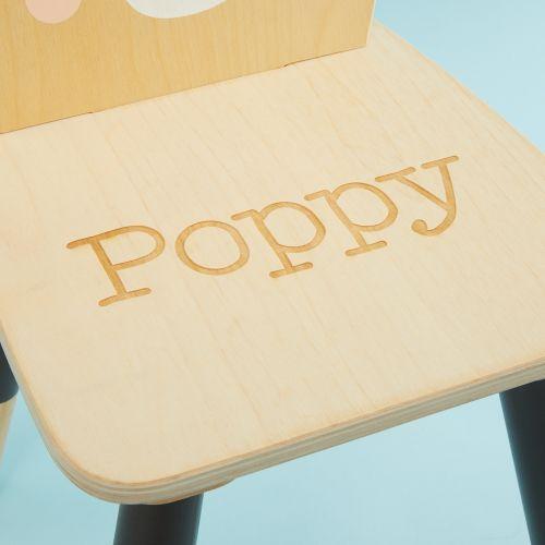 Personalised Tenderleaf Bear Design Children's Chair