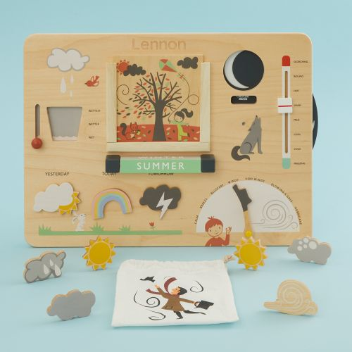 Personalised Wooden Weather Board Toy