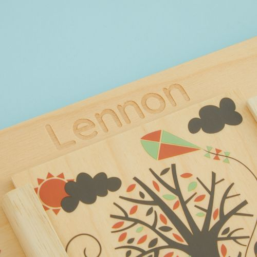 Personalized Wooden Weather Board Toy