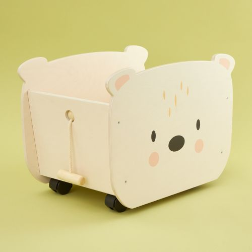 Personalised Tenderleaf Bear Pull-a-long Storage Box