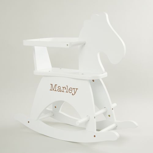 Personalised White Rocking Horse