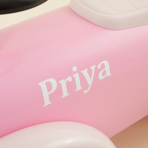 Personalised Baghera Pink Ride On Car