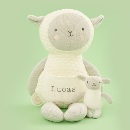 Personalised 'Ewe and Me' Knitted Sheep Soft Toy