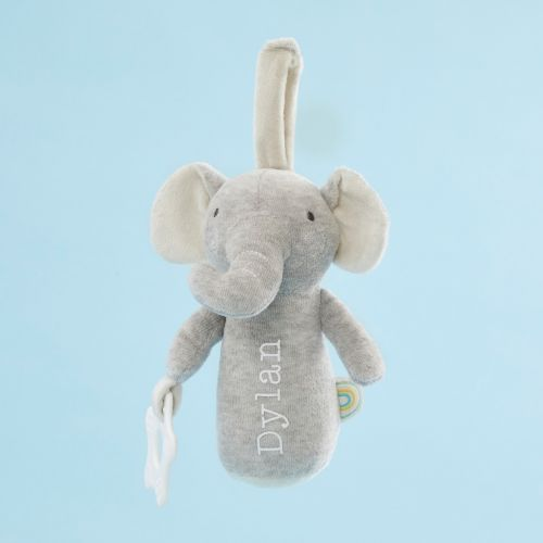 Personalized Plush Little Elephant Activity Rattle Toy