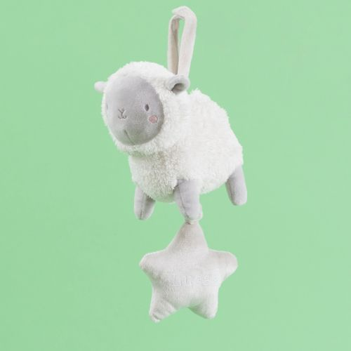 Personalised Little Lamb Musical Pram Toy