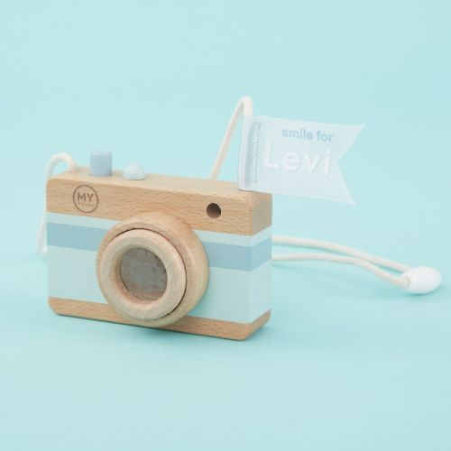 Personalised Blue Children's Camera Toy