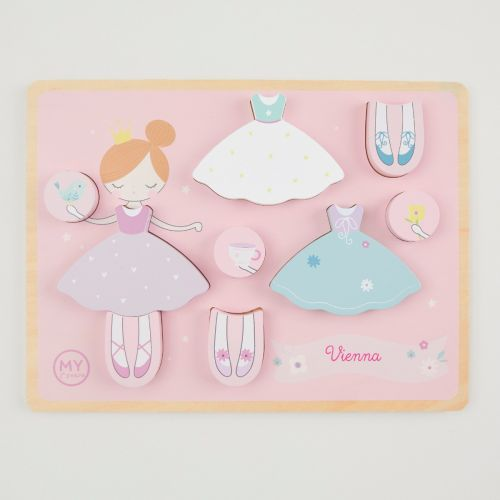 Personalised Princess Dress Up Wooden Puzzle