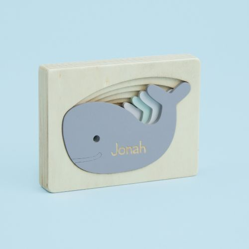 Personalised Wooden Whale Stacking Puzzle