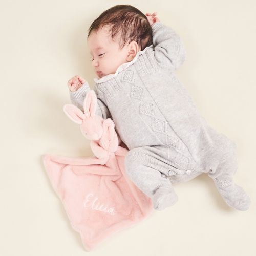 Personalised Pink Super Soft Bunny Comforter
