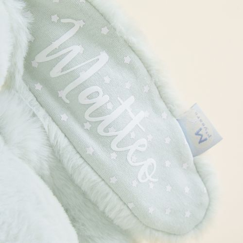 Personalised Mint Soft Bunny Toy