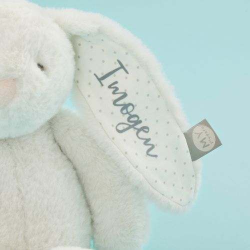 Personalised Light Grey Bunny Soft Toy