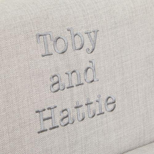 Personalised Grey Children's Sofa