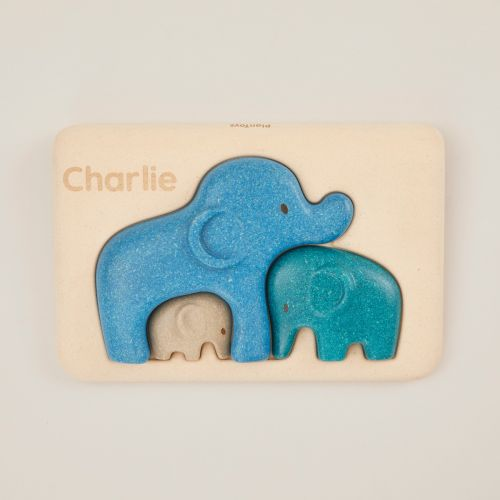 Personalized Plan Toys Blue Elephant Puzzle