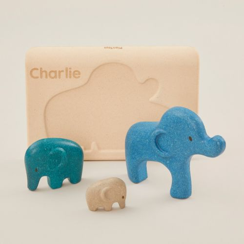 Personalised Plan Toys Blue Elephant Puzzle