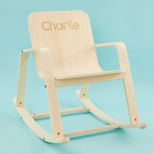 Personalised Plan Toys Wooden Rocking Chair