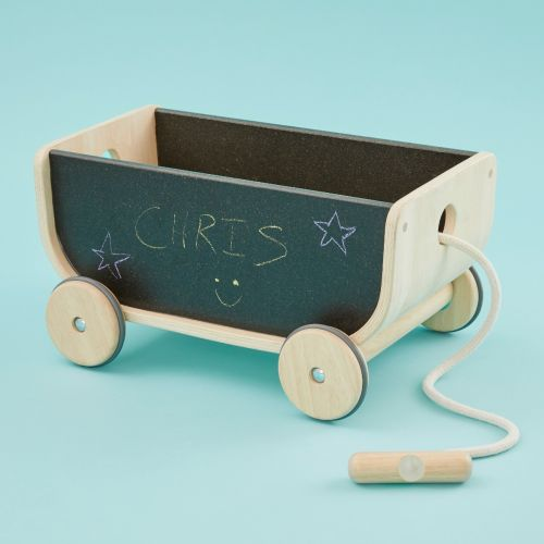 Plan Toys Pull Along Chalkboard Wagon Toy
