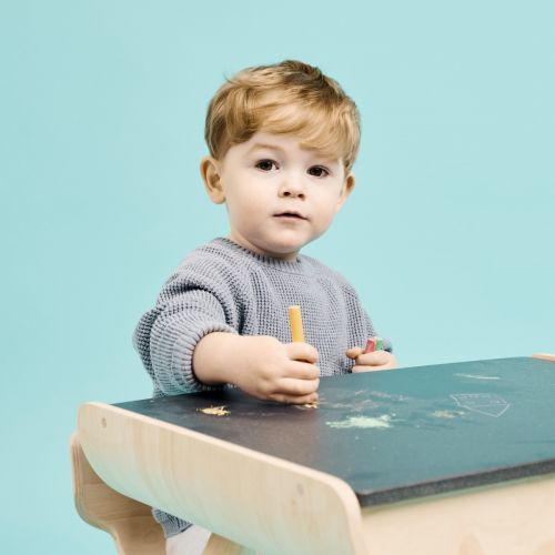 Personalised Plan Toys Chalkboard Colouring Table and Chair Set