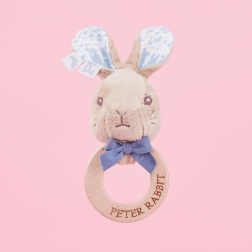 Personalised Peter Rabbit Wooden Rattle