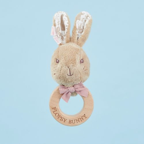 Flopsy Bunny Wooden Rattle