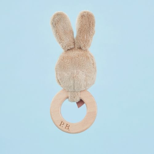 Personalised Flopsy Bunny Wooden Rattle