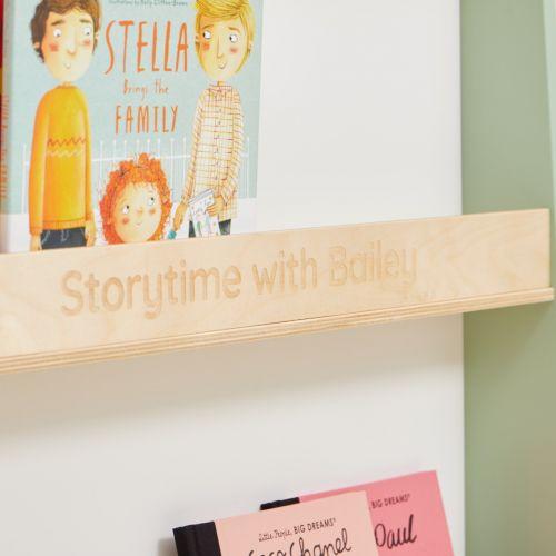 Personalised Tenderleaf Wooden Children's Bookcase