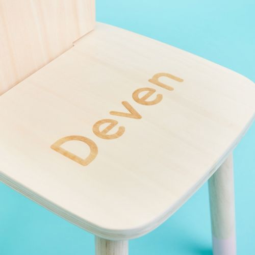 Personalised Wooden Mouse Design Children's Chair