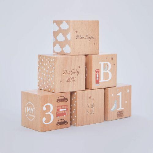 Personalised Wooden Keepsake Blocks