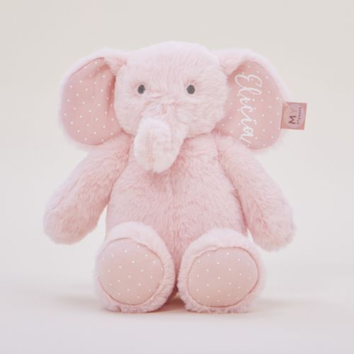 Personalised Pink Elephant Soft Toy