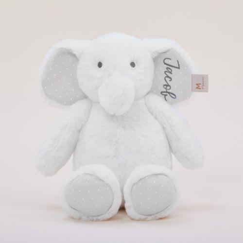Personalised Ivory Elephant Soft Toy