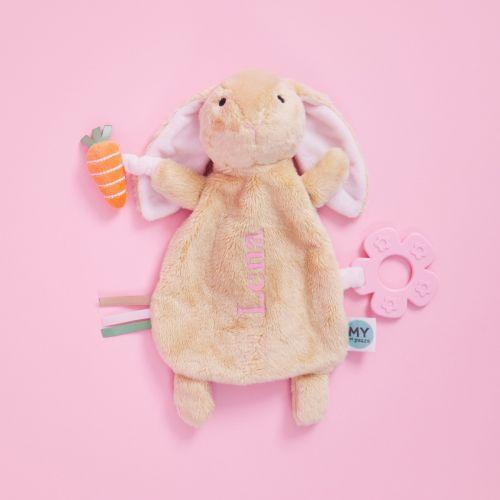 Personalised Plush Bunny Activity Toy