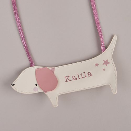 Personalised Little Sausage Dog Toddler Handbag