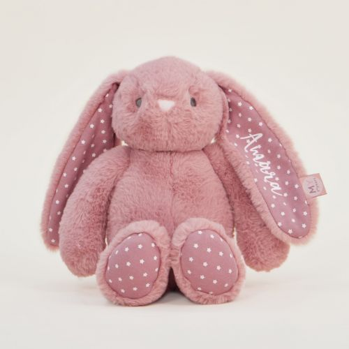 Personalised Dark Pink Bunny Soft Toy
