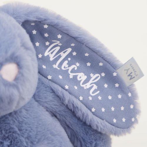 Personalised Dark Blue Bunny Soft Toy