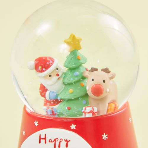 Personalized Santa Scene Snow Globe