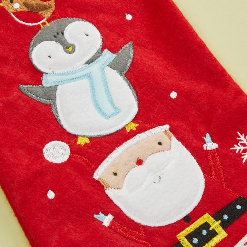 Personalized Small Fur Top Santa & Penguin Stocking