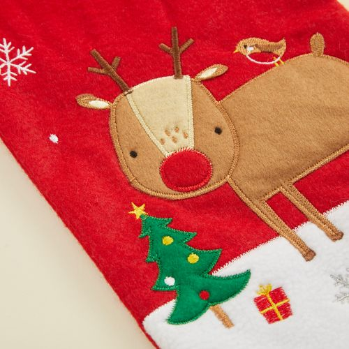 Personalized Small Fur Top Reindeer Stocking