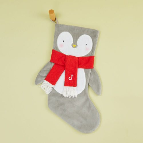 Personalised Medium Penguin Face Stocking