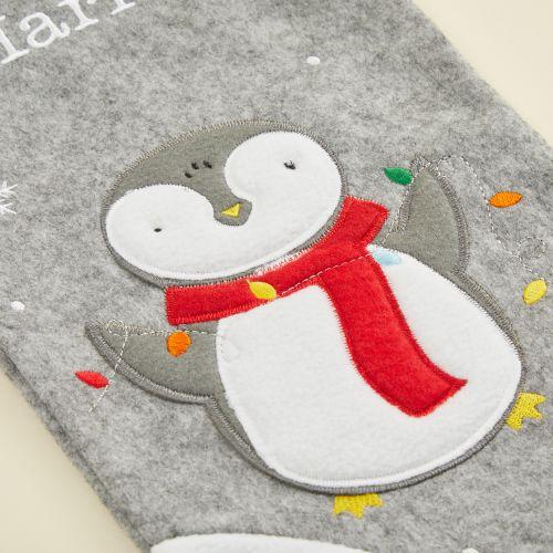Personalised Medium Fur Top Penguin Stocking