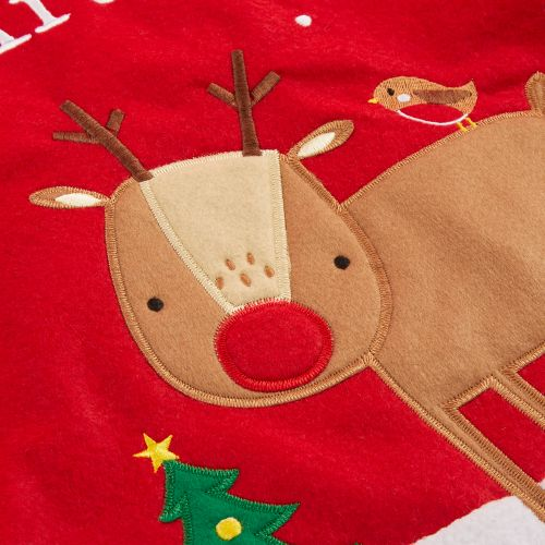 Personalized Fur Top Reindeer Christmas Sack