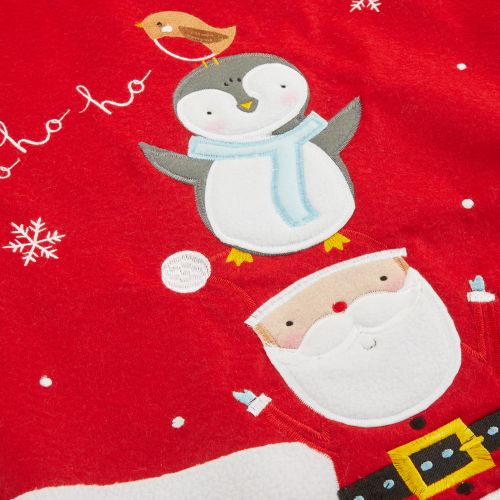 Personalised Fur Top Santa & Penguin  Sack