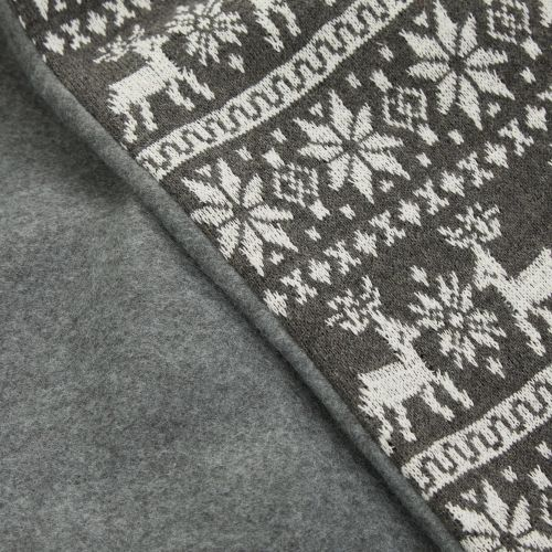 Personalized Gray Fairisle Christmas Sack