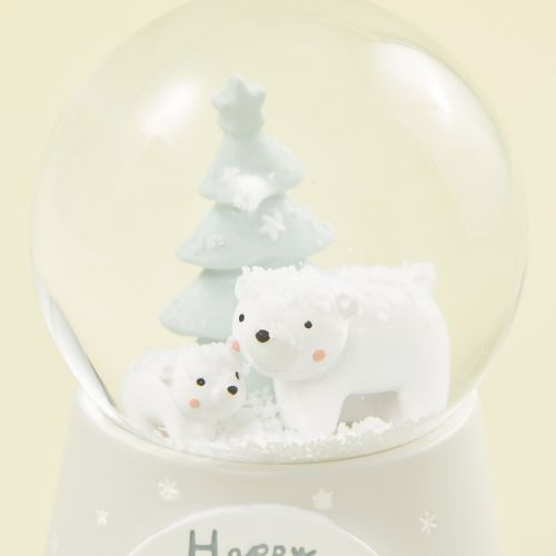 Personalized Polar Bear Scene Snow Globe