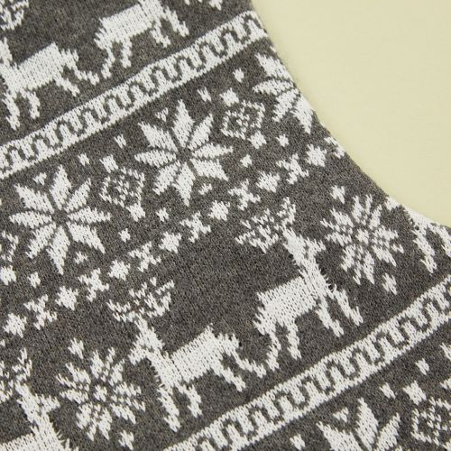 Personalized Gray Fairisle Stocking