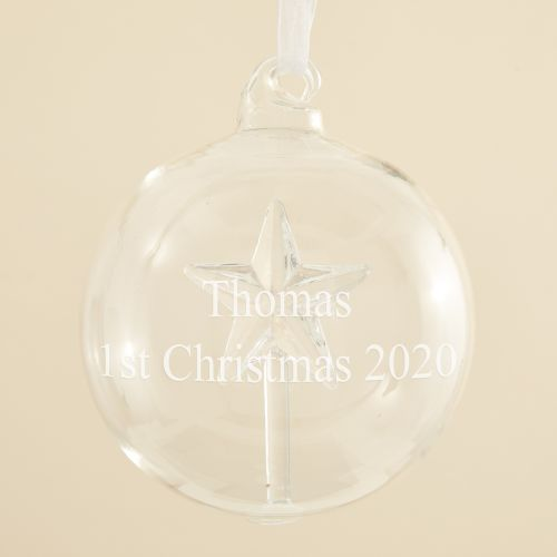 Personalized Glass Star Bauble