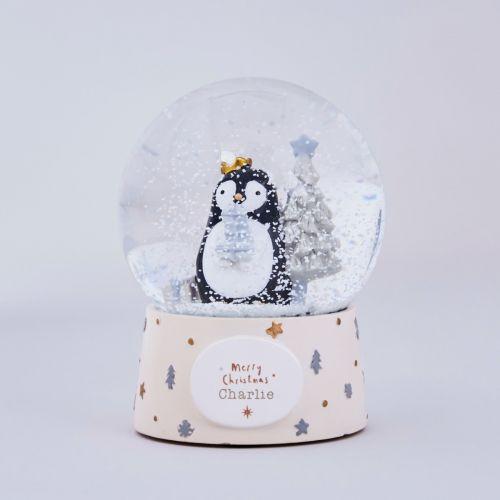 Personalised Penguin Christmas Snow Globe