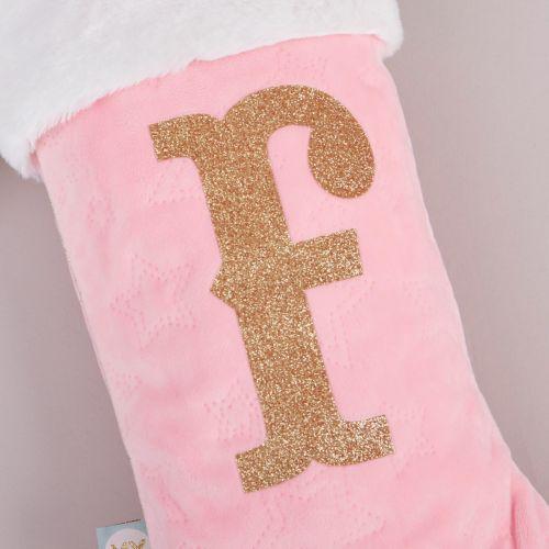 Small Pink Velvet Emboss Stocking
