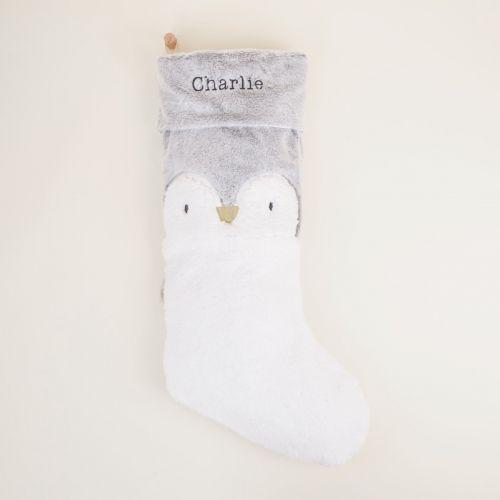 Personalised Large Penguin Christmas Stocking