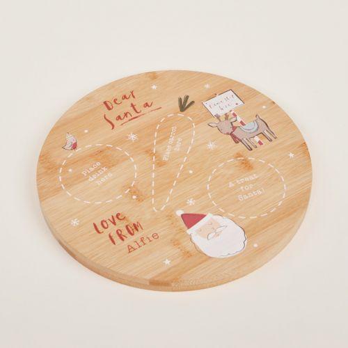 Personalised Wooden Christmas Eve Platter for Santa