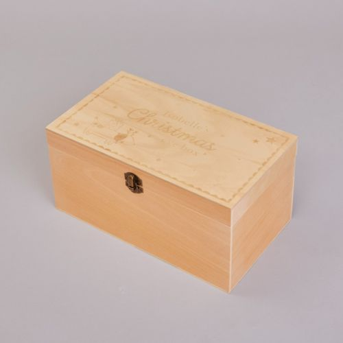 Personalised Wooden Sausage Dog Christmas Eve Box